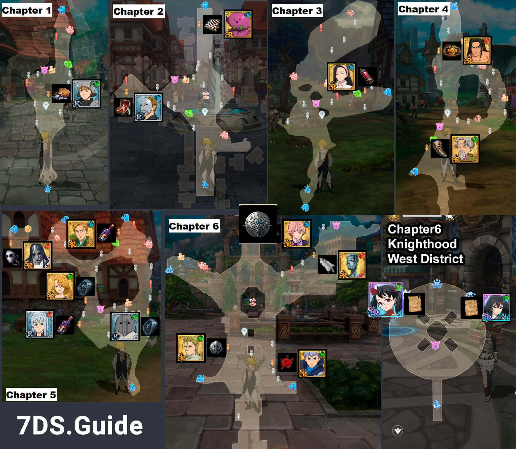 7ds affection gifts locations