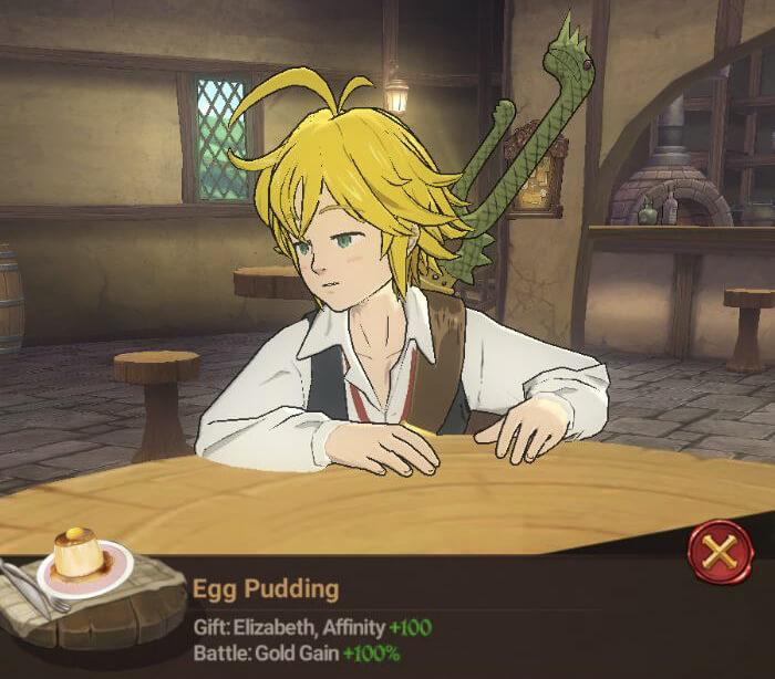 gold gain 100 food