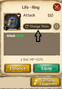 How to Reroll Main Stat