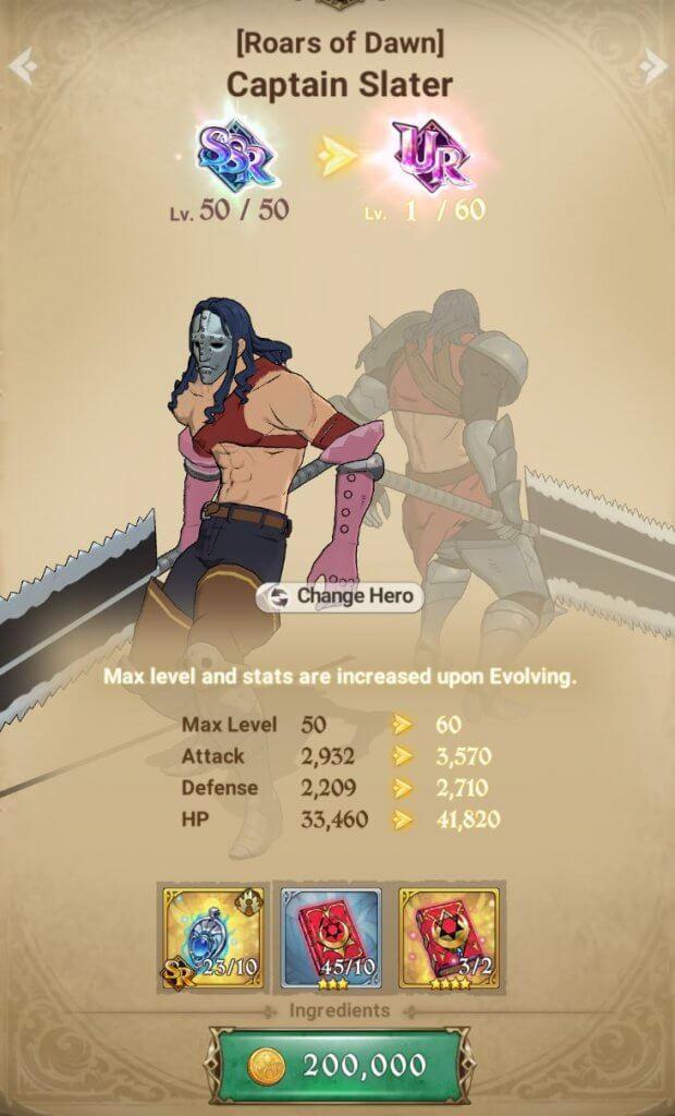 Evolving Heroes requires Pendants