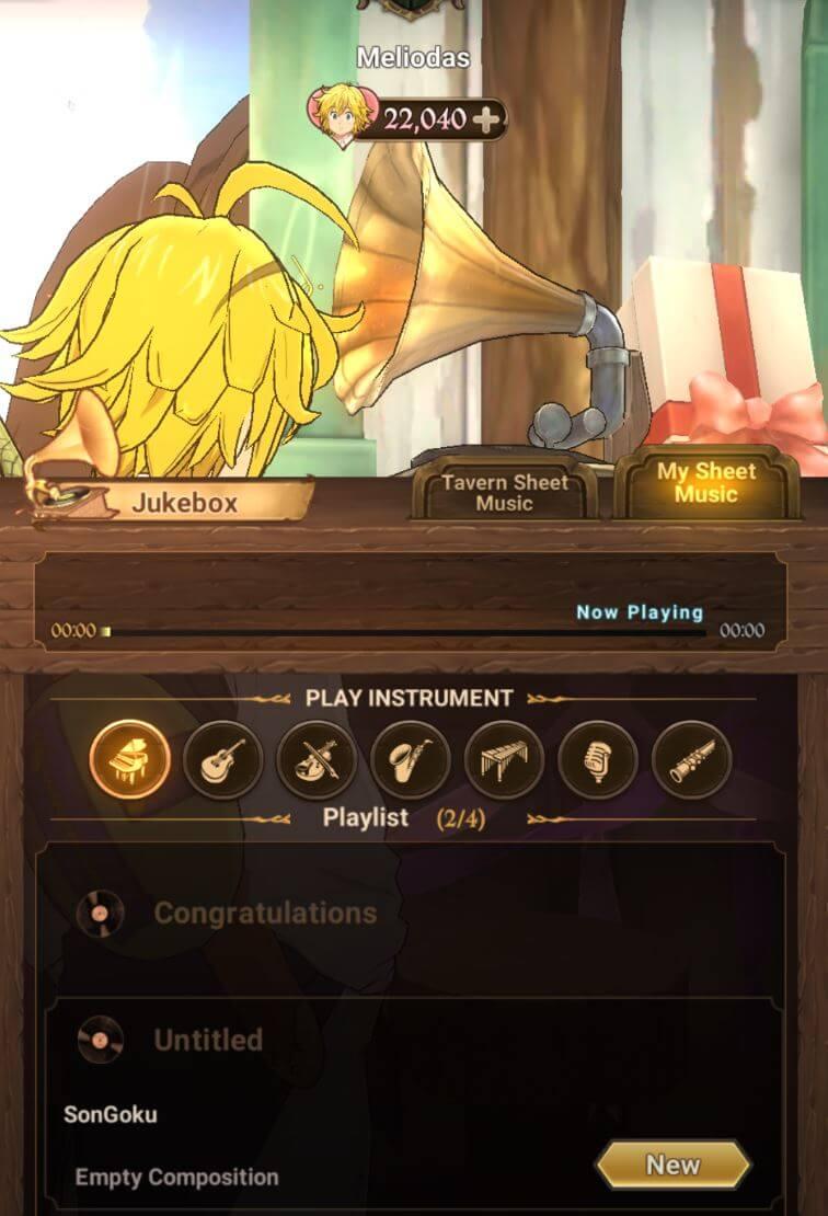7ds Jukebox Sheet Music